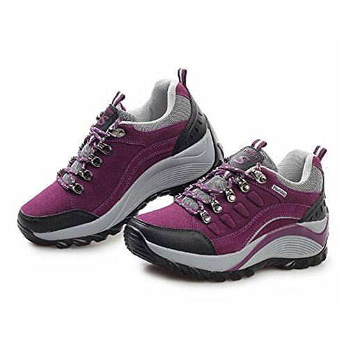 snfgoij Hiking Sports Lightweight Shoes Shoes Mountaineering Girls Ladies Purple Shoes Casual Outdoor Shoes Walking rCrqS
