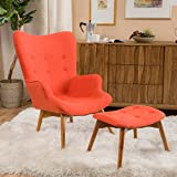 Great Acantha Mid Century Modern Retro Contour Chair With Footstool