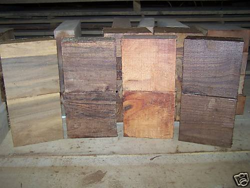 8 Mixed Pack 6 X 6 X 3'' Bowl Blanks Lathe Turning Block Lumber 2 Black Walnut +2 Sweet Gum + 2 Tulip Poplar + 2 Maple Processed Green and Completely Sealed with Anchorsel