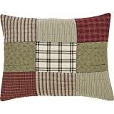 VHC Brands Classic Country Farmhouse Bedding-Prairie Winds Red Sham, Standard (38000)