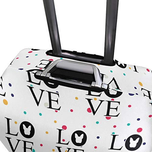 Bulldog Love Travel Luggage Cover - Suitcase Protector HLive Spandex Dust Proof Covers with Zipper, Fits 18-32 inch by HLive (Image #3)