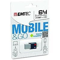 Emtec Duo USB 3.0 & Micro USB Flash Drive (ECMMD64GT203)