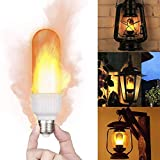 Cheetalamp LED Flame Effect Light Bulb Upside Down Flickering Bulbs 3 Flames Modes E26 Camp Decorations Lamps