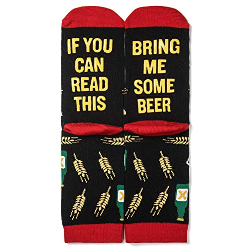 Lavley - Mens Novelty Socks - If You Can Read This Bring Me Some Beer (Beer) (Best Birthday Presents For Guys)
