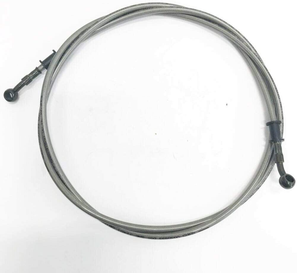 XtremeAmazing 86 Inch Braided Hydraulic Brake Hose Line Pipe Cable for Motorcycle ATV Dirt Bike Go Kart Scooter 10mm