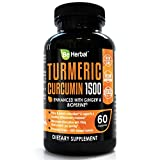 Cheap BE HERBAL Premium Organic Turmeric Curcumin with Bioperine 1500mg – The Most Potent Turmeric Curcumin Supplement with 95% Standardized Curcuminoids – Enhanced with Ginger Extract – 60 Veg Capsules