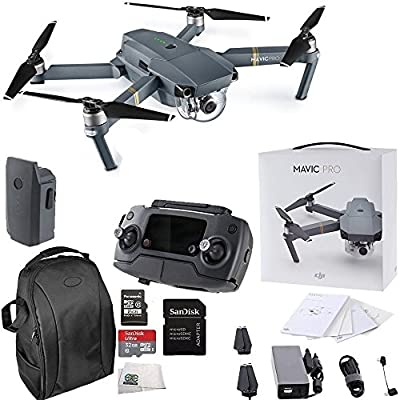 DJI Mavic Pro Collapsible Quadcopter Starters Backpack Bundle from DJI