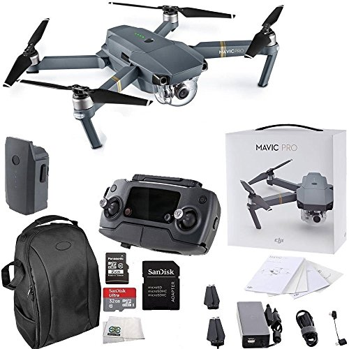 DJI Mavic Pro Collapsible Quadcopter Starters Backpack Bundle by DJI