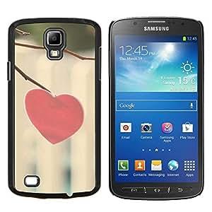 Cubierta protectora del caso de Shell Plástico || Samsung Galaxy S4 Active i9295 || Corazón del amor Minimalista @XPTECH