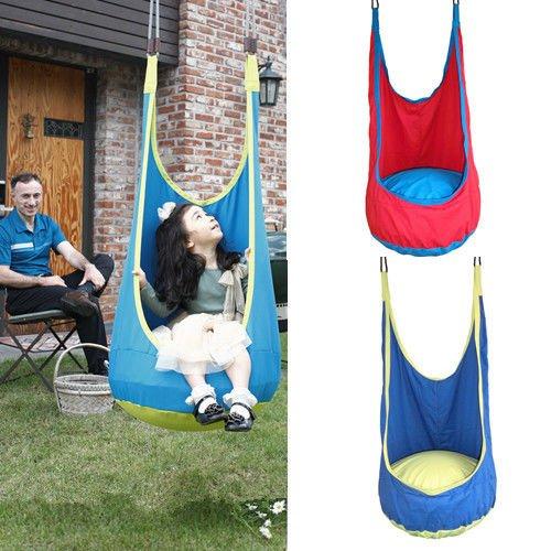 Attrayant Amazon.com: Baby Pod Swing Hammock Chair Hanging Chair Kid Indoor Outdoor  Swing Seat Tent Blue: Baby
