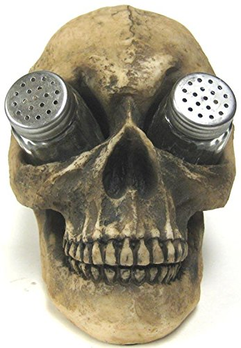 Creepy Human Skull Salt and Pepper Shaker Set