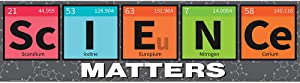 Eureka ''Science Matters'' Periodic Table Classroom Decoration Banner, 45'' x 12''