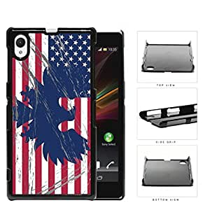 American Eagle Flag With Overspray Hard Plastic Snap On Cell Phone Case Sony Xperia Z1