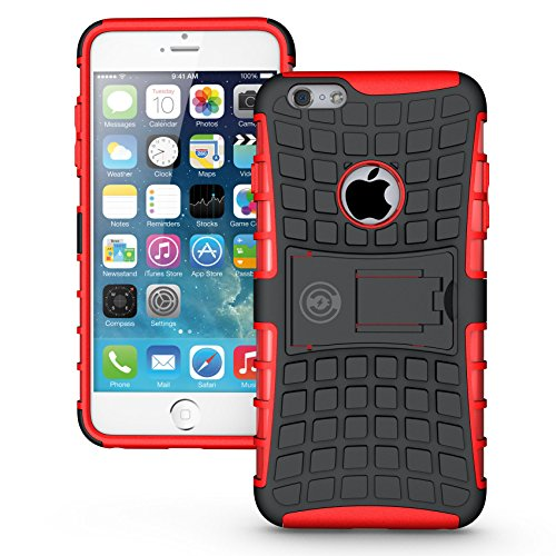 iPhone 6 Plus Case, iPhone 6 Plus or 6S Plus Armor Cases 6 Plus Tough Rugged Shockproof Armorbox Dual Layer Hybrid Hard or Soft Slim Protective Case by Cable and Case by Red Armor CaseÊ