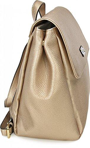PAULS BOUTIQUE, ABBEY, Damen Handtaschen, Rucksäcke, Backpack, Freizeittaschen, Lightgold, 25 x 32 x 14 cm (B x H x T)
