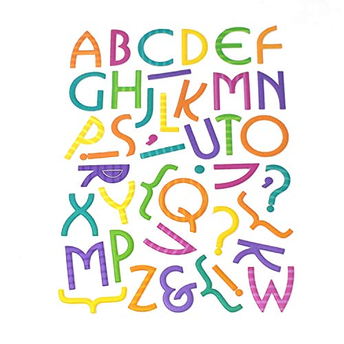 Homeford Puffy 3D Retro Font Alphabet Stickers, 42-Piece