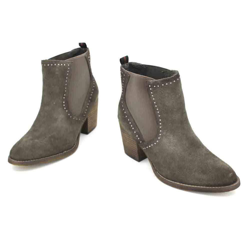 Carmela 66399 Botines de Mujer - 40, Serraje Gris: Amazon.es: Zapatos y complementos