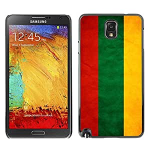 Shell-Star ( National Flag Series-Lithuania ) Snap On Hard Protective Case For Samsung Galaxy Note 3 III / N9000 / N9005
