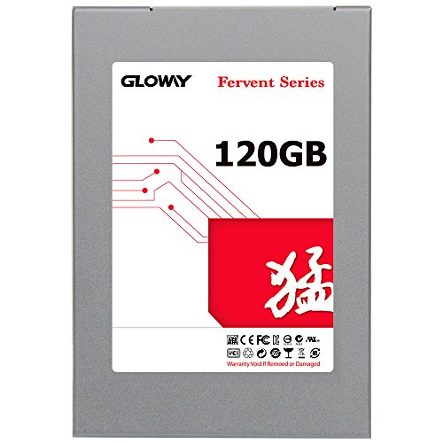 Gloway SSD Fervent SATA 3 2.5 (7mm height) Solid State Drive compatible with Windows,Intel AMD Desktop Motherboard, Laptop (120 GB)