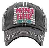 H-212-MHDC06 Distressed Baseball Cap Vintage Dad Hat - Mama Hair  ...