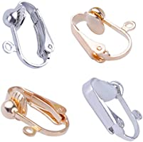 140712f4d BronaGrand 20pcs Clip-on Earring Converter with Easy Open Loop, Gold and  Silver