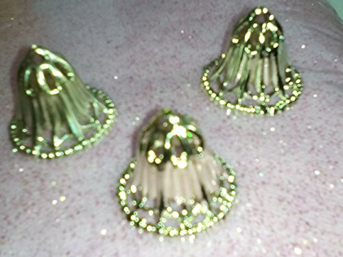 Wedding Bells Pale Gold Plastic 1 1/8