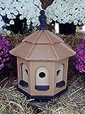 Medium Vinyl Birdhouse Amish Homemade Handmade Handcrafted Cedar & Black