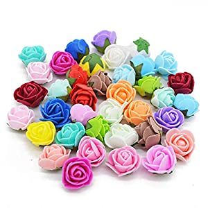 YONGSNOW 200Pcs/lot 2cm Mini PE Foam Rose Artificial Flower Heads for DIY Wreath Wedding Decoration 94