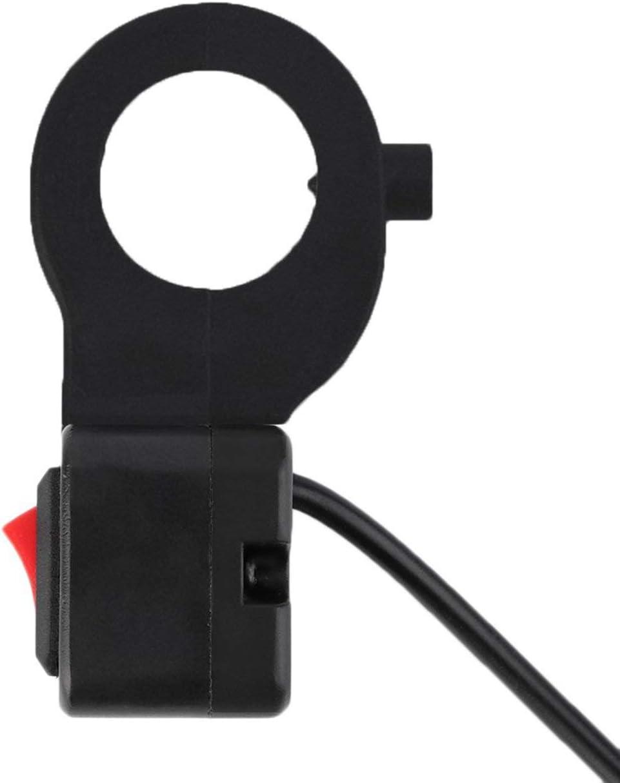 JIUY 22mm Guidon on//Off phares Commutateur de Signal Sport Dirt Bike Moto-phares Interrupteurs s/écurit/é et Durable Noir
