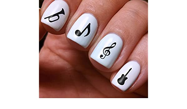 Nail Art Full Decals Set 3d Diy Music Notes Original
