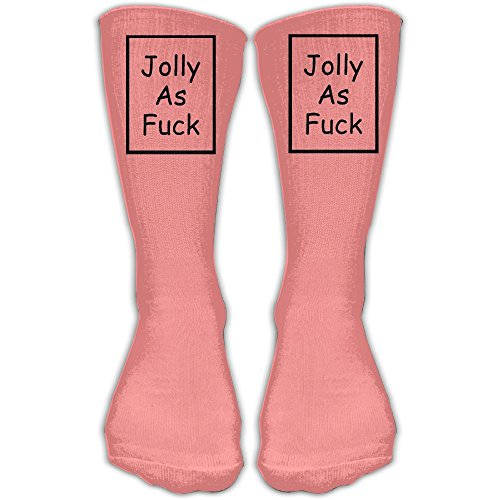 KAKARE Classics Compression Socks Jolly As Fuck Pink Personalized Sport Athletic 30cm Long Crew Socks For Men Women