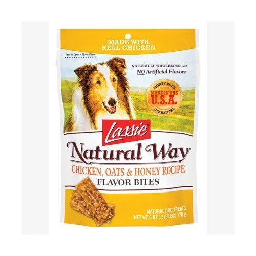Lassie Chicken, Oats & Honey Formula Flavor Bites Net Wt. 6 Oz. [Pack of 2 - 12 Oz]