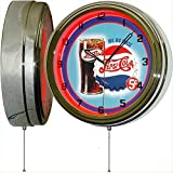 PEPSI Cola Big Big Glass 15' Neon Lighted Wall Clock Sign