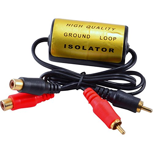 RCA Audio Noise Filter Suppressor Ground Loop Isolator for Car and Home Stereo