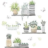 Creativas de la pared plantas verdes delicados Pegatinas de pared desmontable de la etiqueta autoadhesiva para la…