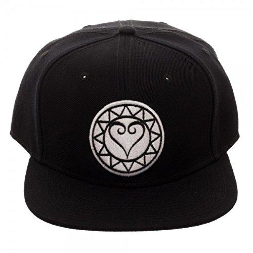Kingdom Hearts Embroidery Logo Snapback Baseball Hat (Kingdom Hearts Hat)