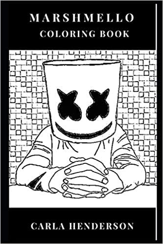 Marshmello Coloring Book: Smiley Helmet and Progressive House ...