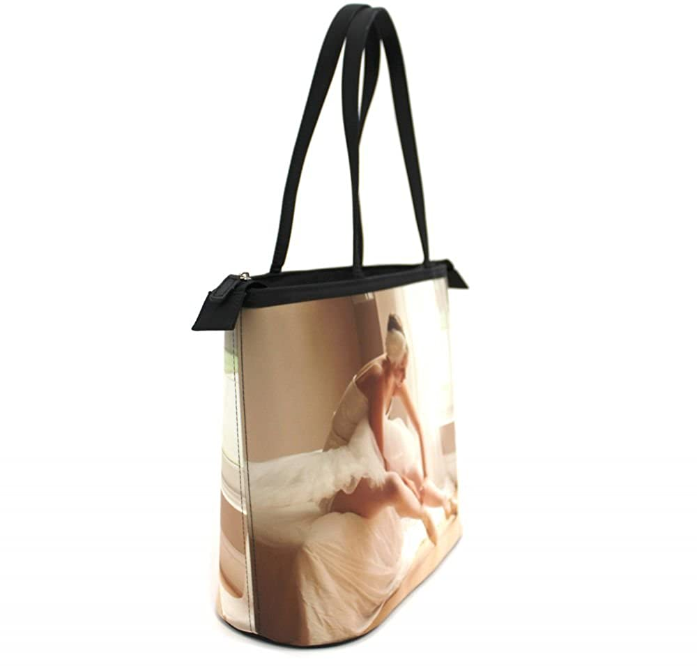 Large w//Front /& Back Design Space Explorer Bucket Tote w//Genuine Leather Trim Personalized