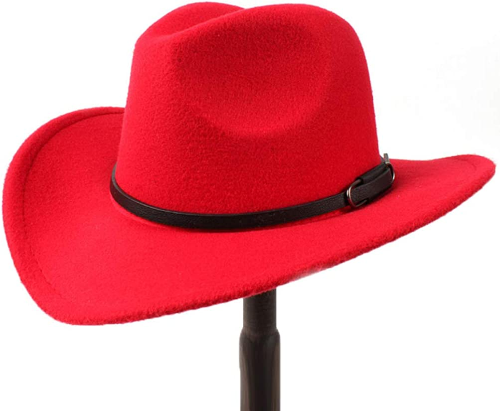 Faux Felt Wide Brim Cowboy Hat Crushable Outback Hat Fedora Hats with Silk Scarf