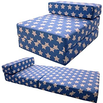Peachy Gilda Chair Bed Standard Chair Bed Z Bed Chairbed Futon Blue Stars Theyellowbook Wood Chair Design Ideas Theyellowbookinfo