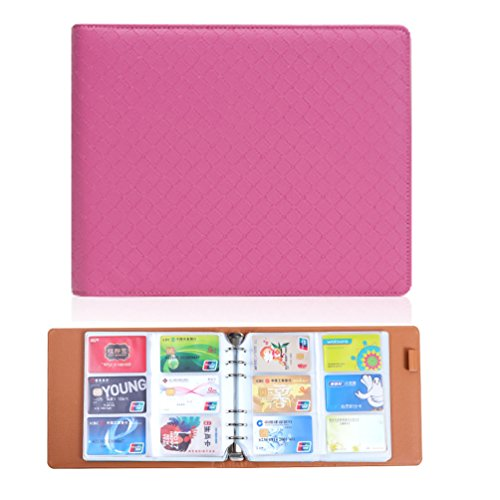 yepmax Pink Business Card Book Name Card Holder Credit Cards Organizer, 360 cell by Yepmax