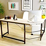 TOUCHXEL L-Shaped Computer Desk PC Latop Study Table Workstation Home Office, Wood Grain