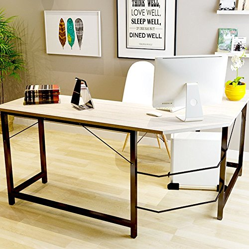 TOUCHXEL L-Shaped Computer Desk PC Latop Study Table Workstation Home Office, Wood Grain by TOUCHXEL