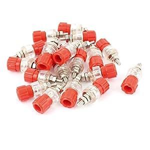 20 Pcs rojo claro de 4 mm de rosca Binding Post Terminal Conector