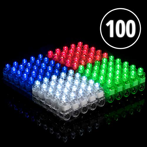 Light Up Rings LED Finger Lights 100pk - Flashing Glow Rings Bulk Party Favors for Kids and Adults, Glow in The Dark Party Supplies Rave Accessories