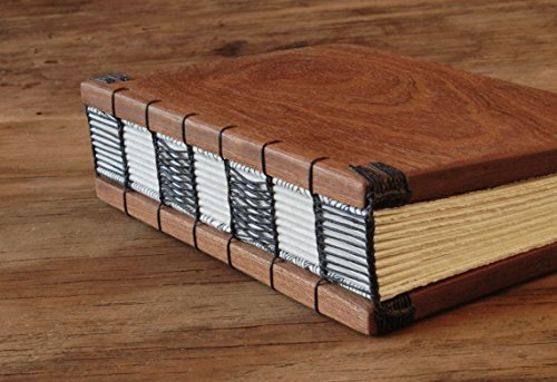 Handmade Wood Guest Book - Mahogany by Three Trees Bindery