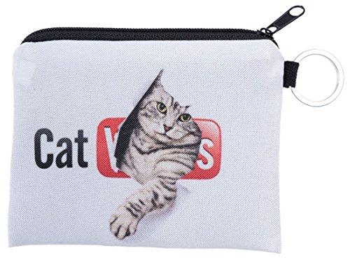 Kukubird gatto video Design stampa Piazza Borsa portafogli