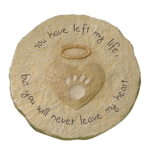 Engraved Sculpted Cement Bereavement Outdoor Sentiment Stone - Sculpted Heart