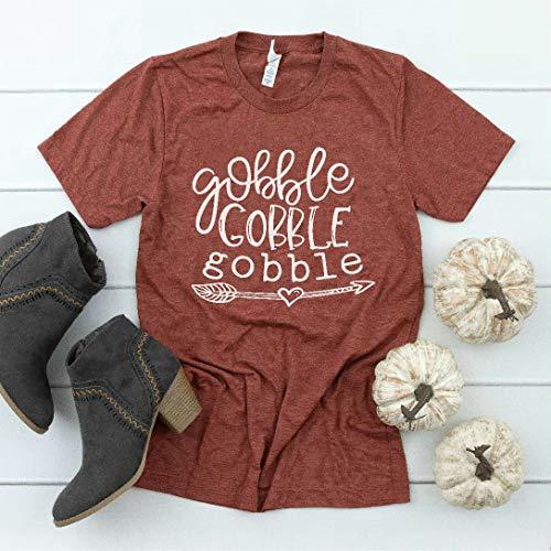 Gobble Gobble Gobble Women's Short Sleeve Thanksgiving Shirts | MADE IN USA