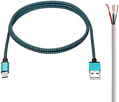 Haodou. Cable Micro USB 3 Pack Carga Rápida Aioneus Cargador Android 1M Cable Android Nylon Movil Cables CargadorCable de Datos de Serpiente (Azul Claro): Amazon.es: Electrónica